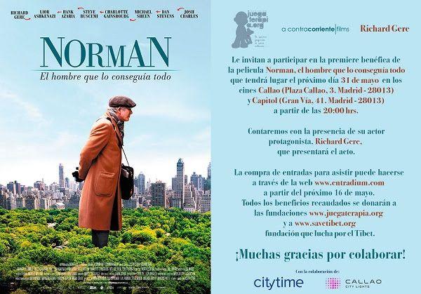 premiere benéfica de Norman