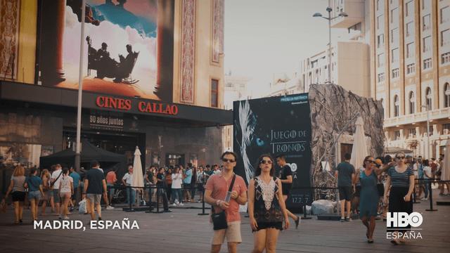 Juego de Tronos en la Plaza de Callao de Madrid