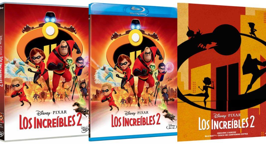 Los Increíbles 2 en DVD y BLU-RAY