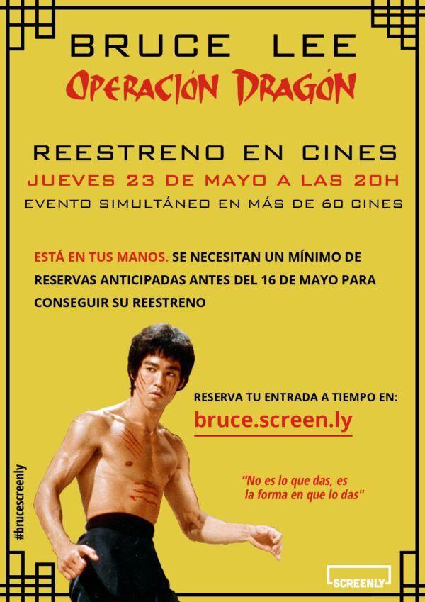 Póster de Operación Dragón de Bruce Lee