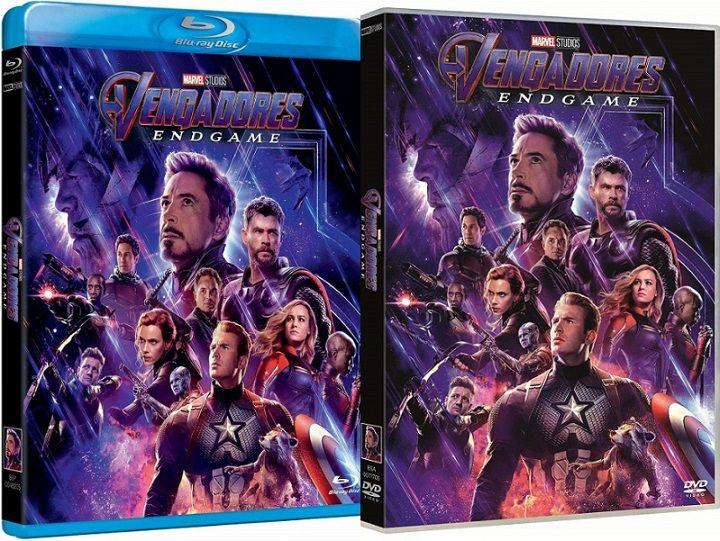 Vengadores Endgame en DVD y BLU-RAY