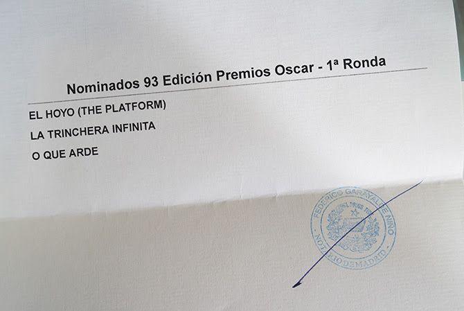 preseleccionadas para los Oscar 2020