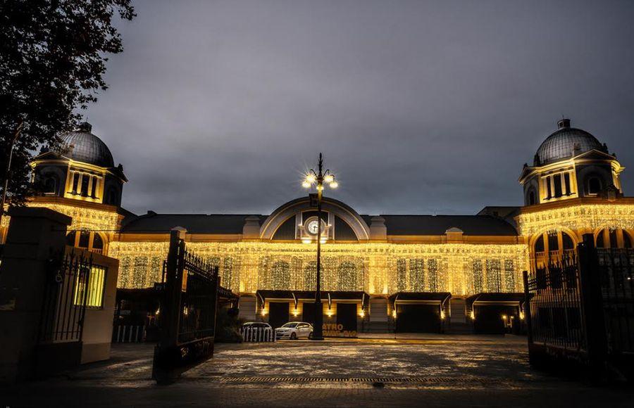Luces Navidad Gran Teatro Bankia Príncipe Pío