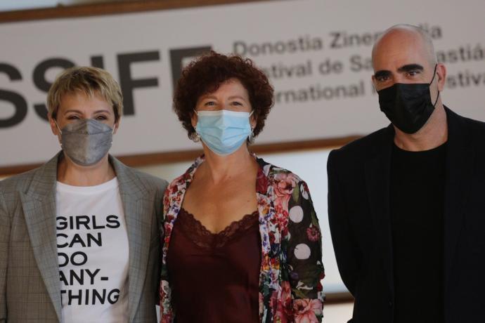 Icíar Bollaín, Blanca Portillo y Luis Tosar
